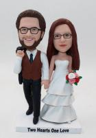 Custom Custom wedding cake topper made from photos