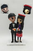 Custom Custom Wedding Cake Toppers from Cartoon Photo