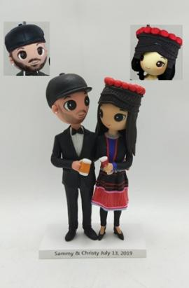 Custom Wedding Cake Toppers from Cartoon Photo