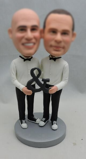 Custom Customized gay same sex wedding cake topper