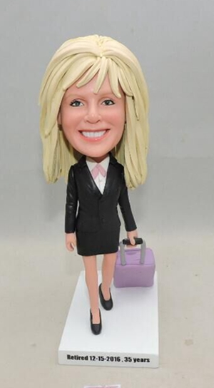 Custom Custom bussiness woman offfice lady figurine