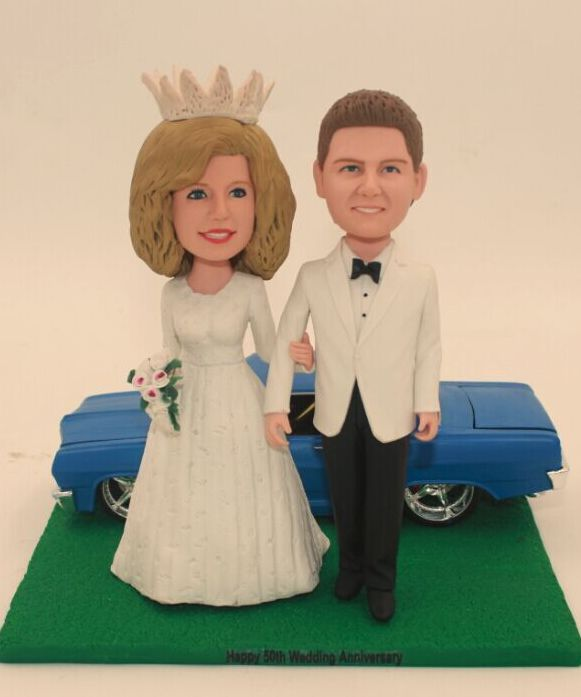 Custom Custom wedding anniversary cake topper