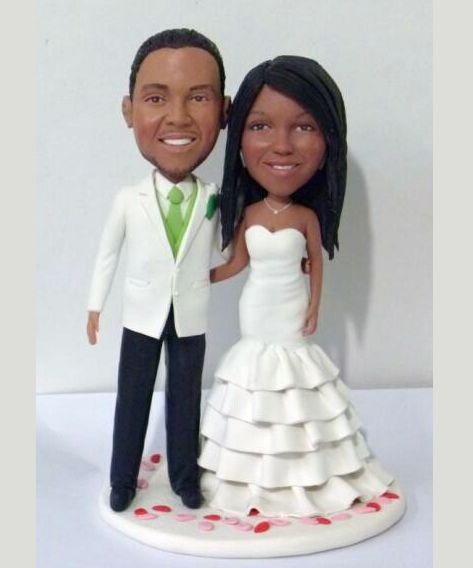Custom Custom wedding cake topper made from pictures