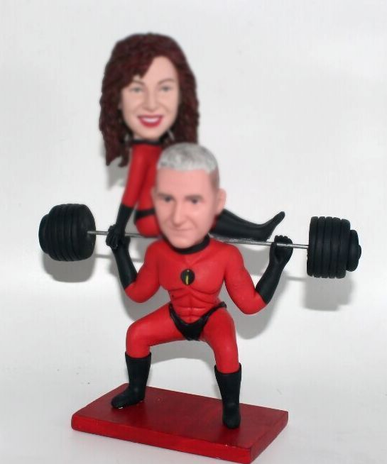 Custom custom cake toppers Mr. incredible Mrs. Incredible