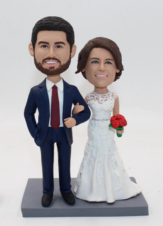 Custom Custom wedding cake toppper looks like you