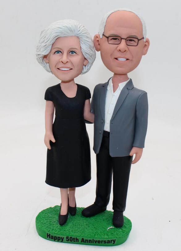Custom Golden wedding 50th Anniversary cake topper