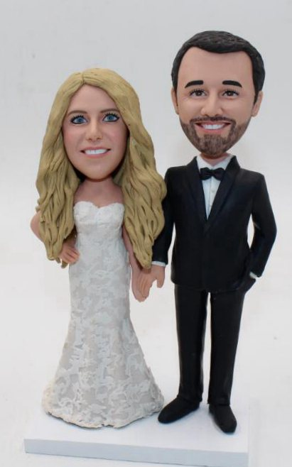 Custom Personalized wedding cake topper looks like you