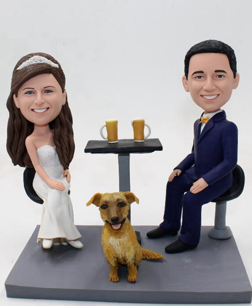 Custom Custom cake topper wedding with beers
