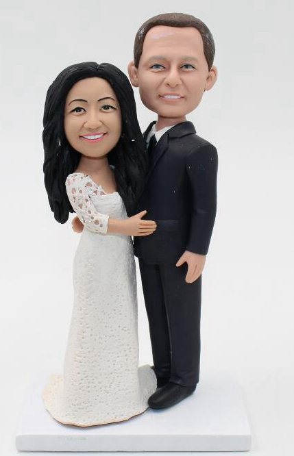 Custom Vintage custom wedding cake toppers