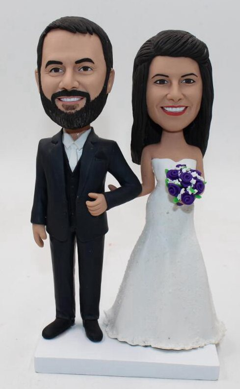 Custom Custom handmade wedding cake topper dolls