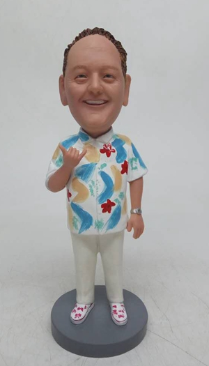 Custom Personalized party cake topper with hawaii style shirt