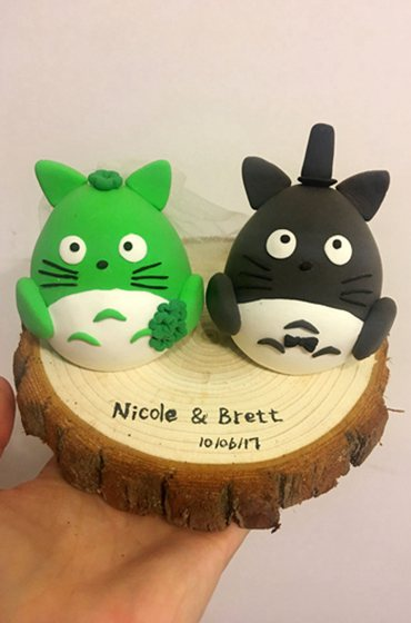 Custom Wedding cake toppers cute Totoro
