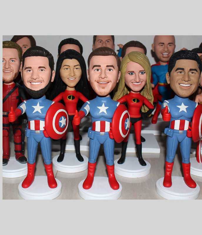 Custom Custom superhero wedding party dolls