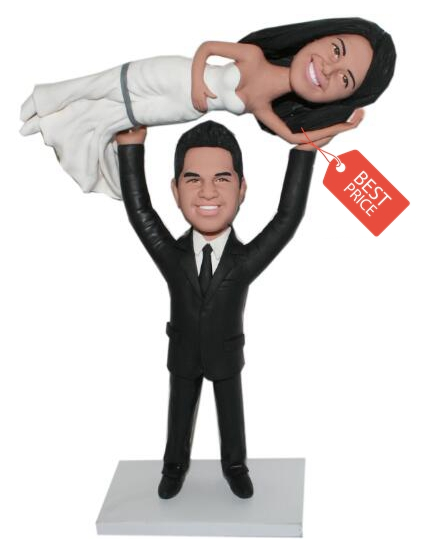 Custom Custom cake topper groom lifting bride