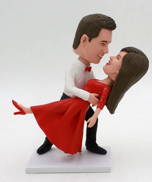 Custom Dancing themed aniversary/wedding cake topper