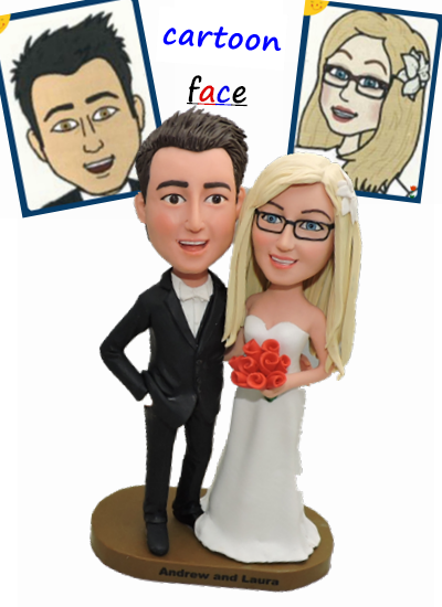 Custom Cake Toppers to use your Bitmoji faces