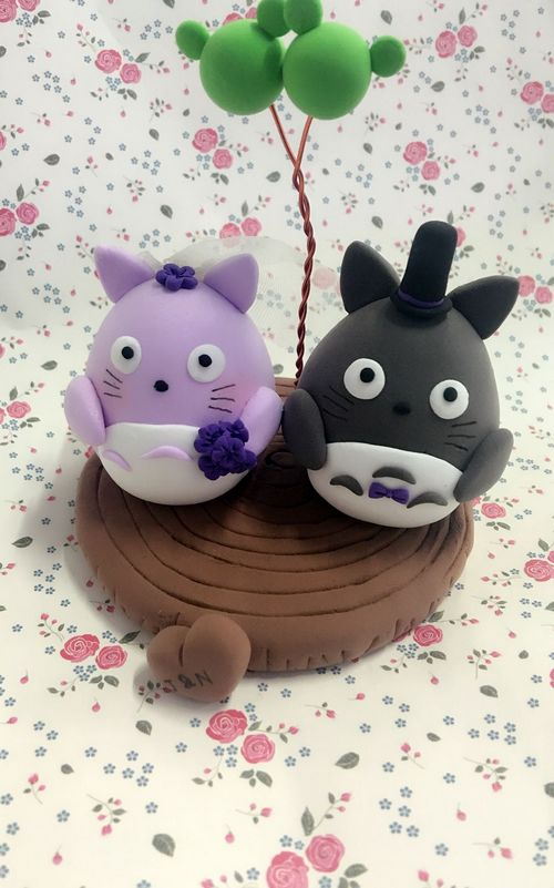Custom Custom cake topper-Totoro with balloons