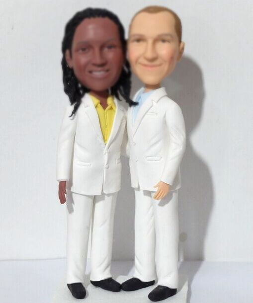 Custom Custom gay wedding toppers made from photos