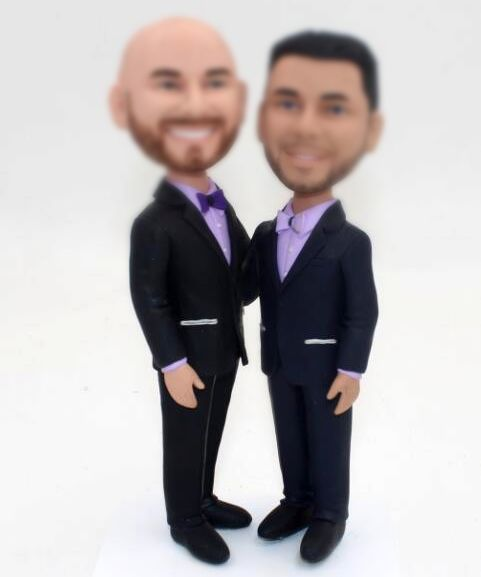 Custom Custom gay wedding cake topper