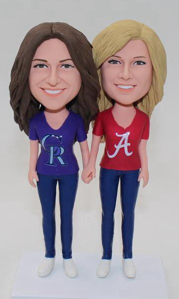Custom Custom lesbian cake topper with Alabama logo