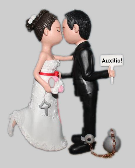 Custom Custom Funny Cartoon Wedding cake topper