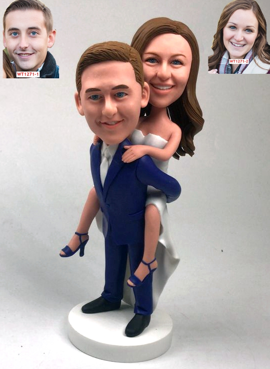 Custom Custom wedding cake topper groom holding bride