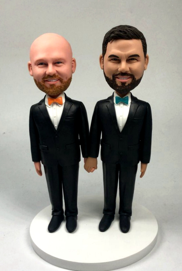 Custom Custom gay wedding cake topper made for you