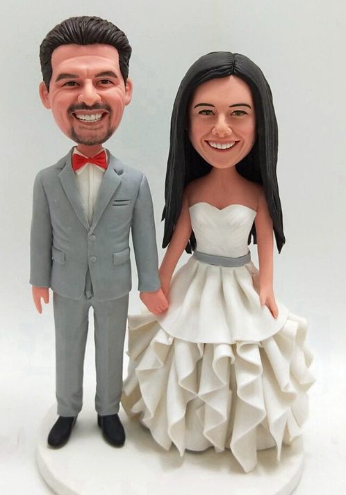Custom Custom wedding cake topper bride and groom