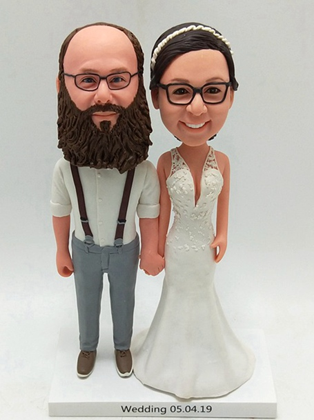Custom Custom wedding cake topper with big beard