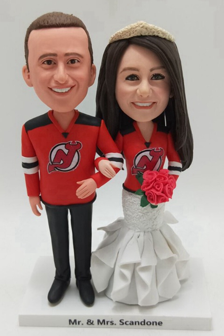 Custom Custom cake topper sprots theme wedding