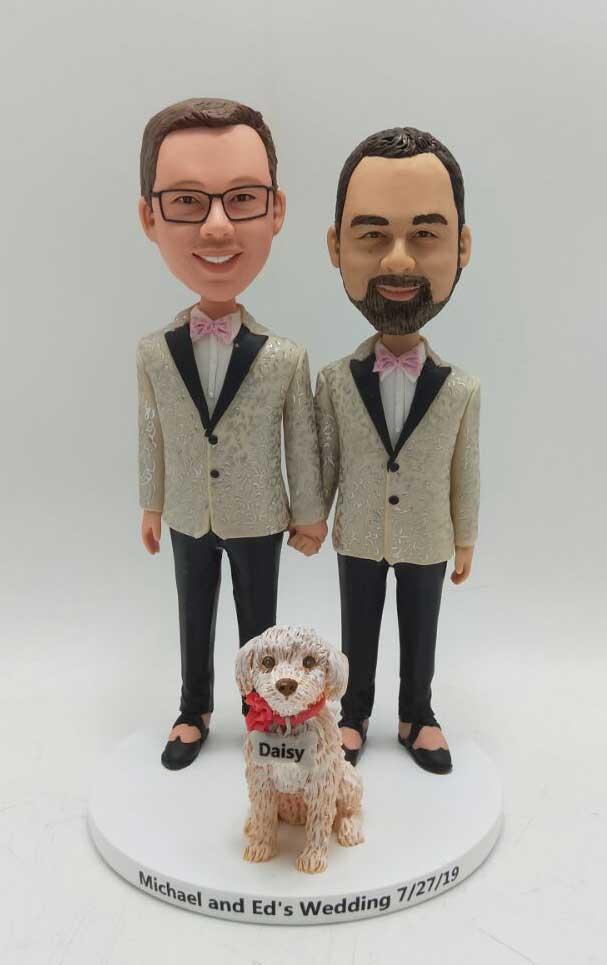 Custom Custom cake topper gay couple