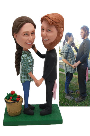 Custom Custom Cake topper groom mechanic and bride Farmer