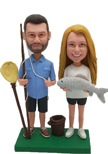 Custom Custom Fishing Wedding Cake Toppers