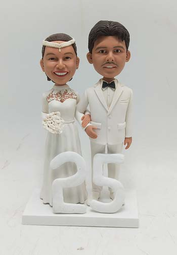 Custom Custom Anniversary cake topper 25th from Wedding Photo