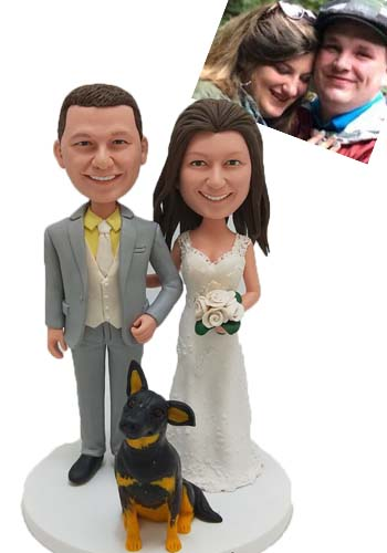 Custom Custom groom and bride cake topper made from photo