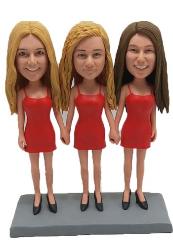 Custom Custom Family Cake toppers for three girls