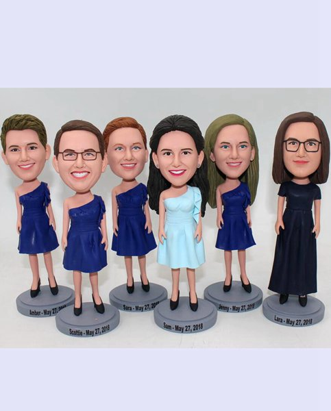 Custom Custom bridal party bridesmaid bobbleheads