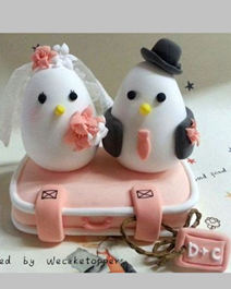 Cute Birds Cake Toppers for wedding