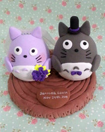 Wedding cake toppers Totoro