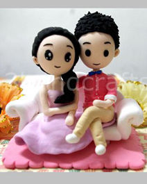 Fully customized cartoon wedding cake toppers [cartoon7]- $89.00 ...