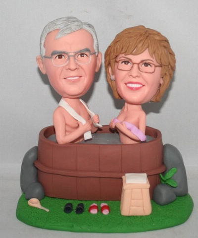 Custom Bathing 50th Anniversary Cake Toppers