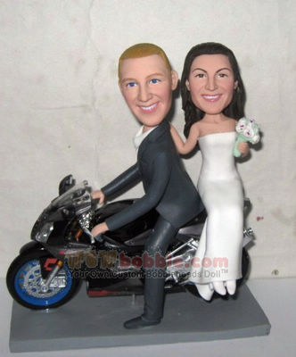 Custom Motorcycle wedding Cake Toppers