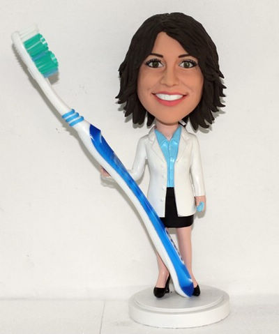 Custom Female Dentist Birthday Cake Toppers
