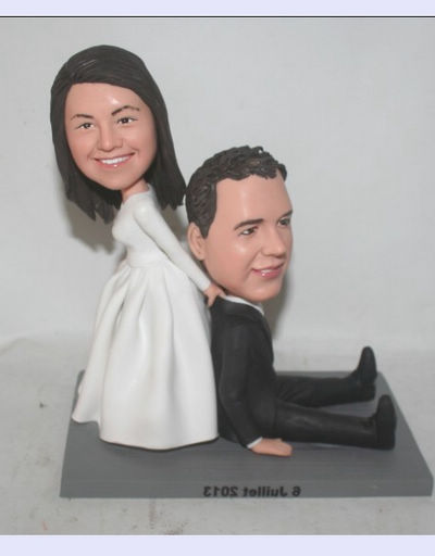 Custom Bride draging groom Wedding Cake Toppers