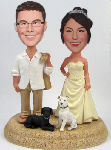 Custom Beach Casual Custom Cake Toppers