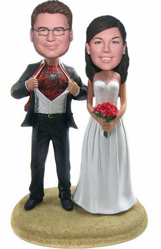 Custom Spiderman / Superman Cake Toppers