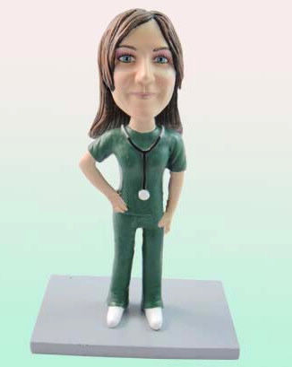 Custom Female Nurse Birthday Cake Toppers