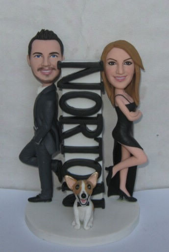 Custom Mr. & Mrs. Custom wedding cake toppers