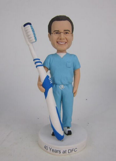 Custom Dentist with tooth brush hoder