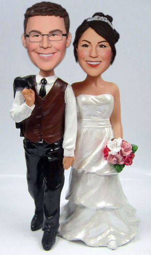 Custom Hand in Hand Wedding Cake Toppers BW60